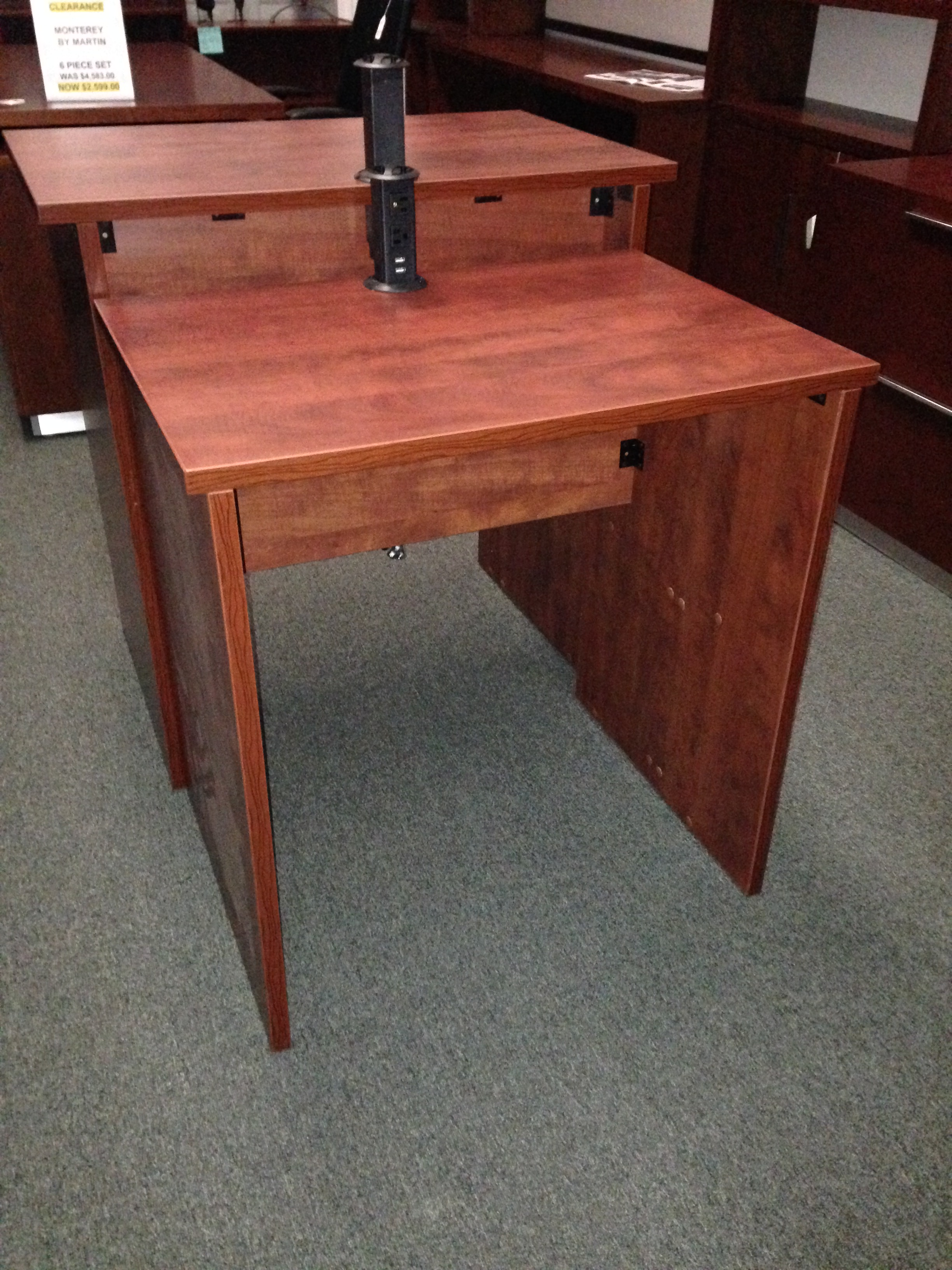 Stand Up Desk With Charge And Connect Pop Port
