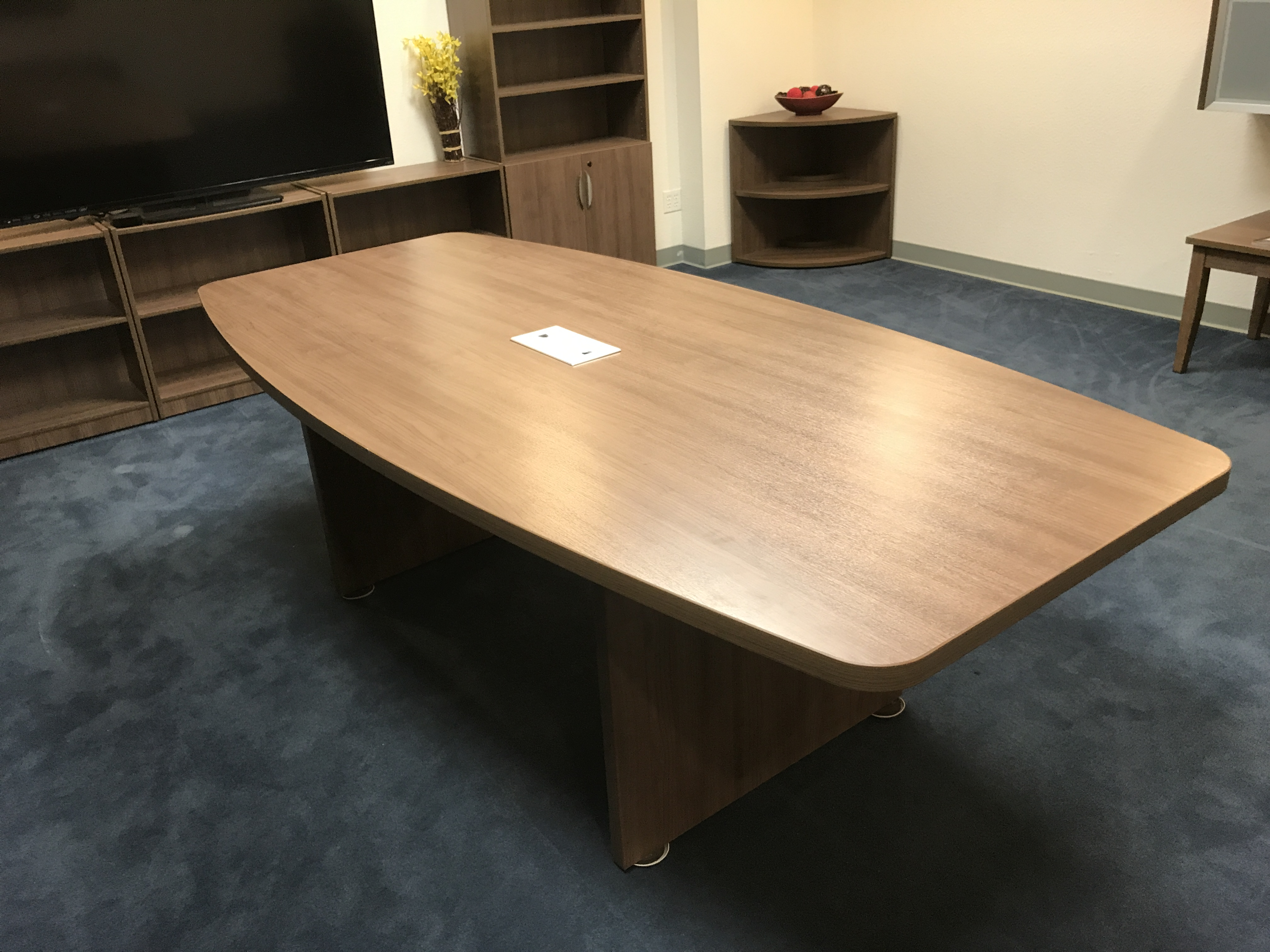 BOATSHAPE CONFERENCE TABLE Golden State Office Furniture - Desk with conference table